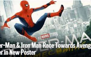 Spider-Man & Iron Man Race Towards Avengers Tower in New Poster-Movie News
